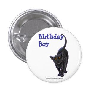 Black Cat Party Center Pinback Button