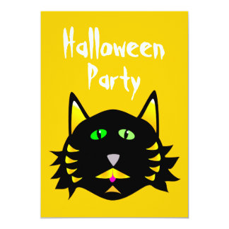 Black Cat Party Invitations