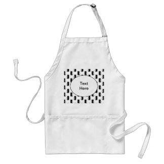Black cat pattern. adult apron