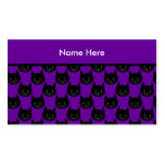 Black Cat Pattern. Business Card