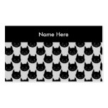 Black Cat Pattern on Light Gray. Double-Sided Standard Business Cards (Pack Of 100)