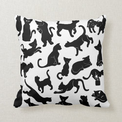 Black Cat Pattern Pillows