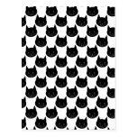 Black Cat Pattern. Postcard