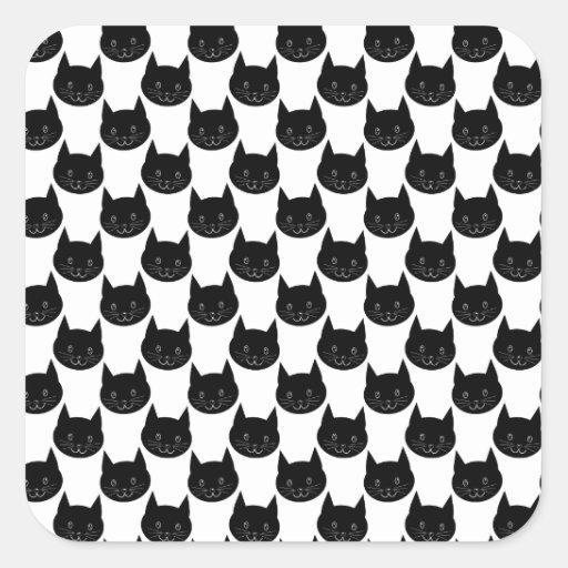 Black Cat Pattern. Stickers