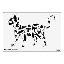Black Cat Pattern Wall Decal