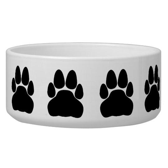 Black Cat Paw Print Shape Bowl