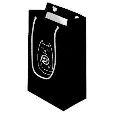 Black Cat Pentagram Small Gift Bag
