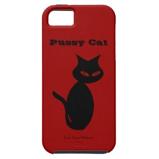 Black Cat Personal iPhone 5 Case