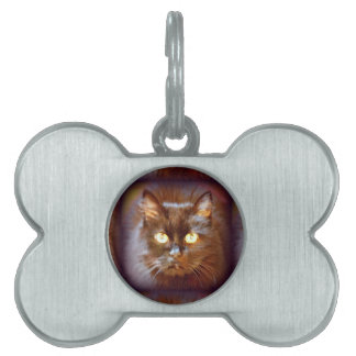 black cat pet name tag
