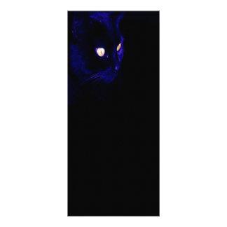 Black Cat Photograph, Halloween Eyes Custom Rack Card