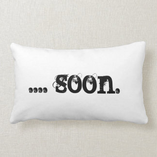 Black Cat Pillow Lurker