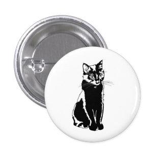 Black Cat Pinback Button