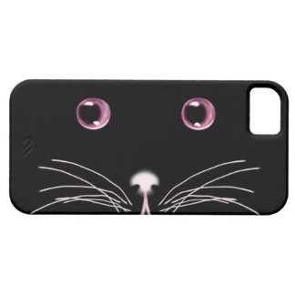 Black Cat Pink Eyes Case-Mate Case iPhone 5 Covers