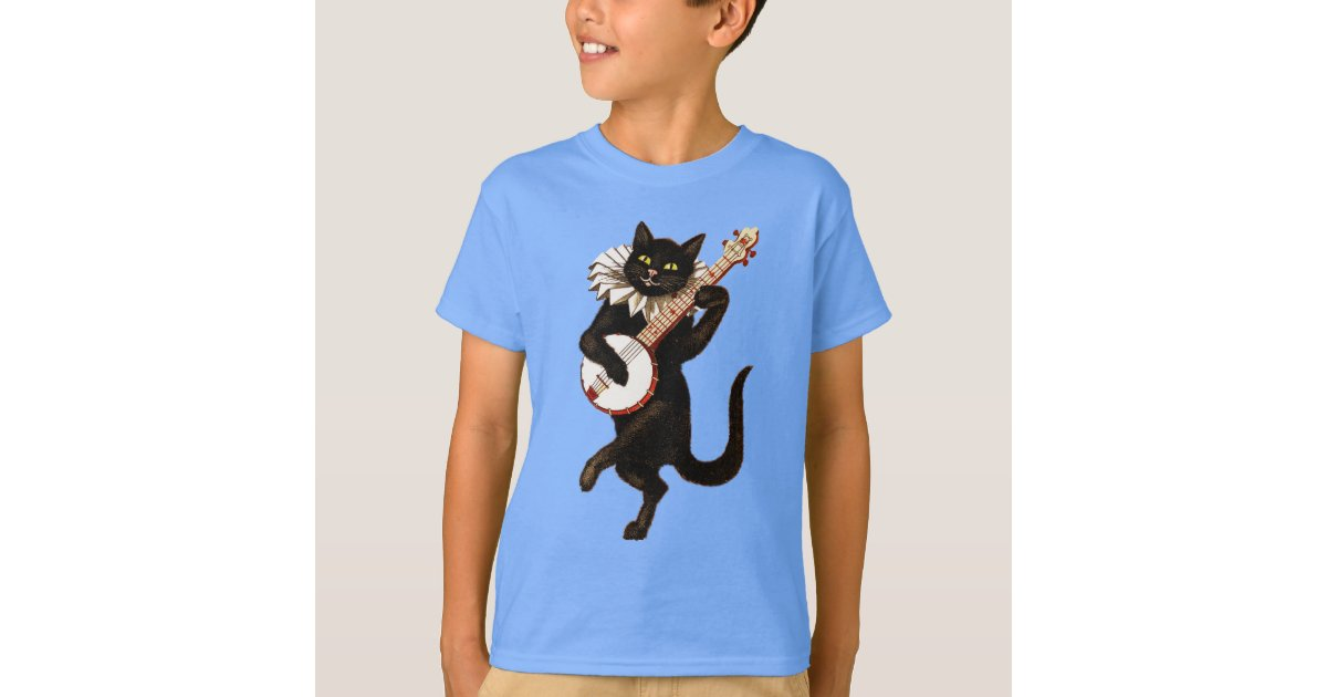 Cat Playing Banjo Picture