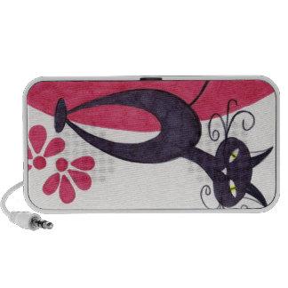 Black cat portable speakers