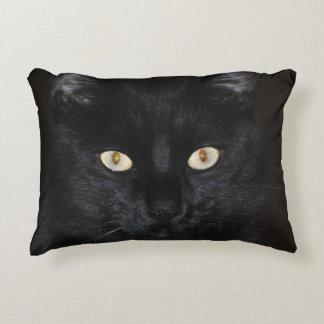 Black Cat Portrait Accent Pillow