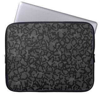Black Cat Print Laptop Sleeve