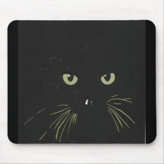 black cat products mouse pad