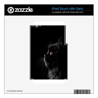 Black Cat Profile Decal For iPod Touch 4G