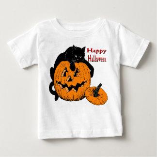 Black Cat Pumpkin Baby T-Shirt