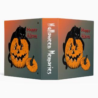 Black Cat Pumpkin Halloween Binder