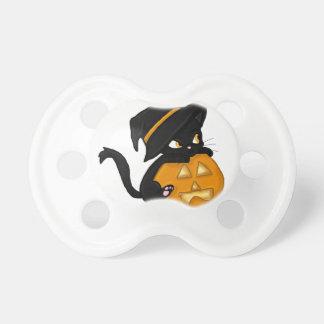 Black Cat Pumpkin Pacifier