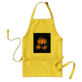 BLACK CAT PUMPKIN PATCH by SHARON SHARPE Adult Apron