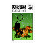 BLACK CAT PUMPKIN PATCH by SHARON SHARPE Stamps