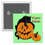 Black Cat Pumpkin Pin