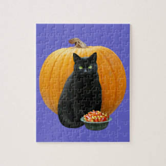 Black Cat Pumpkin Puzzle
