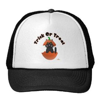 Black Cat Pumpkin Trick Or Treat Trucker Hat