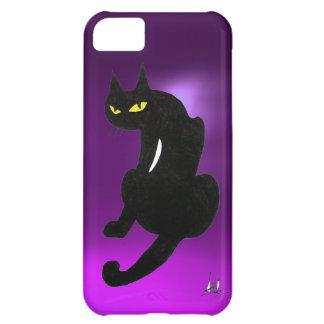 BLACK CAT purple Case For iPhone 5C