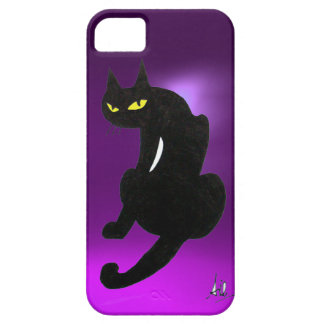 BLACK CAT purple iPhone SE/5/5s Case