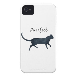 "Black cat ""purrfect"" Case-Mate iPhone 4 case"