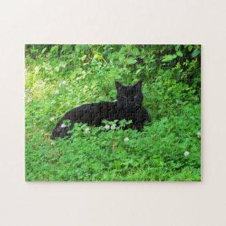 Black Cat Puzzle Jigsaw Puzzle