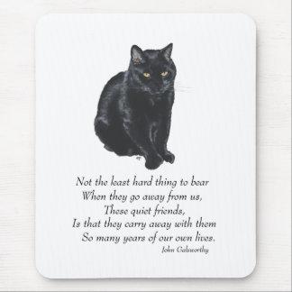 Black Cat Rainbow Bridge Mouse Pad