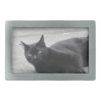 Black  Cat Rectangular Belt Buckles