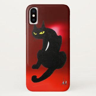 BLACK CAT  Red ruby iPhone X Case