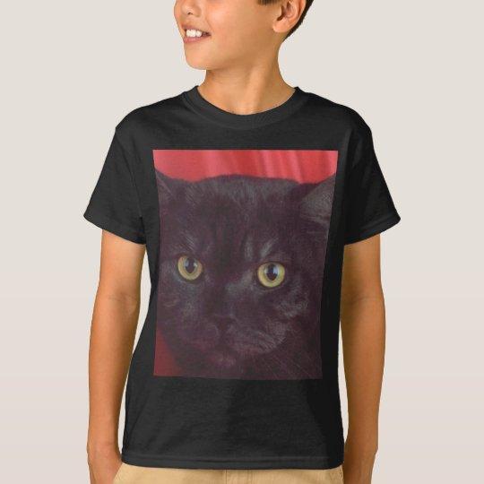 Black Cat - RED T-Shirt