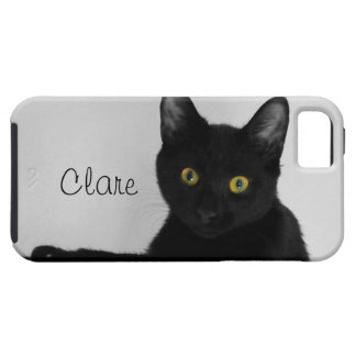 Black Cat relaxing on couch iPhone SE/5/5s Case