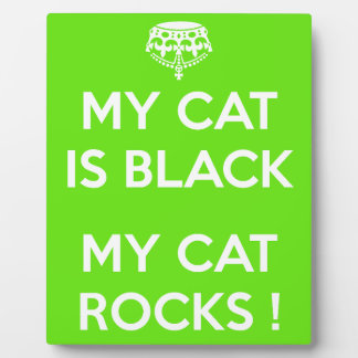 Black cat rocks plaque