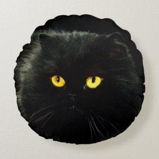 Black Cat Round Pillow