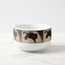 Black Cat Roxie Soup Mug