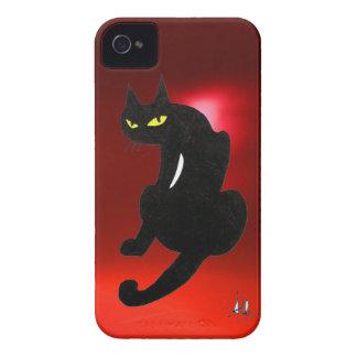 BLACK CAT ruby Case-Mate iPhone 4 Cases