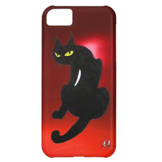 BLACK CAT ruby iPhone 5C Cases