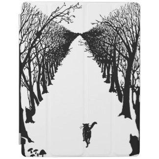 Black cat Rudyard Kipling iPad Cover