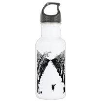 Black cat, Rudyard Kipling Stainless Steel Water Bottle