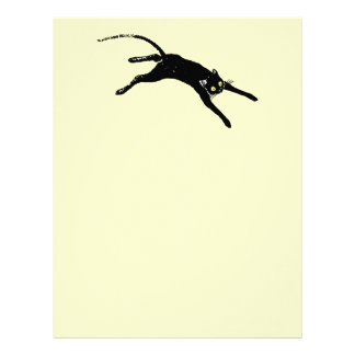 Black cat running letterhead