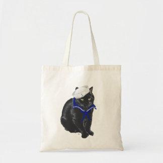 Black Cat Sailor Tote Bag