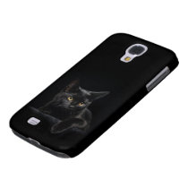 Black Cat Samsung Galaxy S4 Case